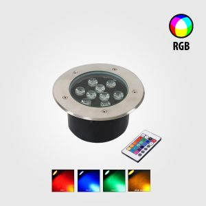 LÁMPARA LED EMPOTRABLE PARA PISO 9W RGB